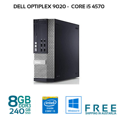 Dell Optiplex 9020 SFF QUAD CORE i5-4670 8GB 128/240GB SSD 320GB HDD W10 Desktop