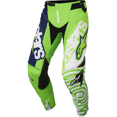Alpinestars NEW Mx 2018 Techstar Venom Green Navy Adults Motocross BMX Pants