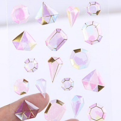 Crystal Diamond 3D Stickers Stationery DIY Scrapbooking Label Stickers Kids