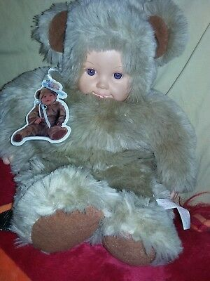 Anne Geddes Plush Doll Teddy Bear Outfit Vinyl hands and face FREE SHIPPING