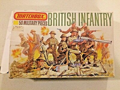 matchbox britsh infantry 1-76th scale 50 military pieces