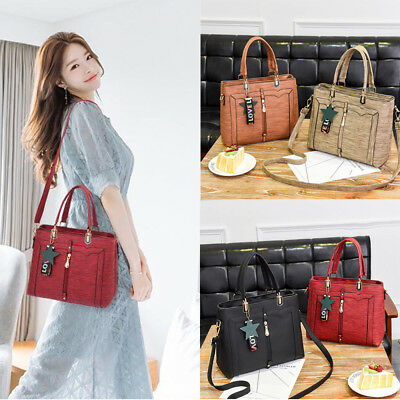 Fashion Women Faux Leather Handbag Shoulder Messenger Satchel Crossbody Tote Bag