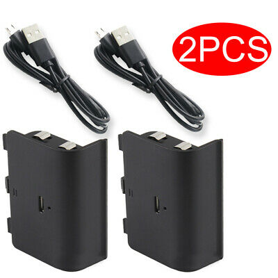 2 pcs Rechargeable Battery Pack for Xbox One Wireless Controller + USB Cable