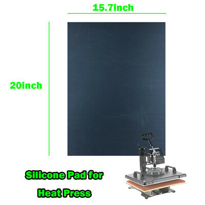 "15.7""x20"" Silicone Pad For Flat Heat Press Machine Replacement Accessory Small"
