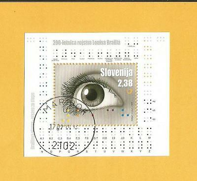 SLOWENIEN 2009 - gestempelt°used -Mi. Block 41 - Louis Braille - Blindenschrift