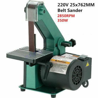 220V Woodworking Belt Sander Metal Polisher Grinder Sanding Chamfering Machine