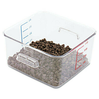 Rubbermaid 4 qt. SpaceSaver Square Container (Clear) 6304CLE New