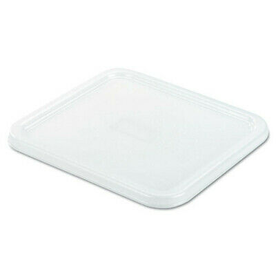 "Rubbermaid 8-4/5"" x 8-3/4"" SpaceSaver Square Container Lid (White) 6509WHI NEW"