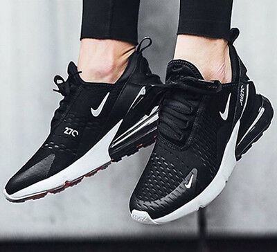 Nike Air Max 270 Black Anthracite White Oreo Solar Red AH8050-002 Sneaker Shoes