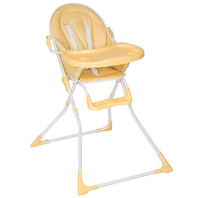 Foldable Baby Child Toddler Infant High Chair Feeding Seat New Beige