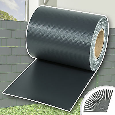 Garden fence screening privacy shade 70 m roll panel cover mesh foil anthracite