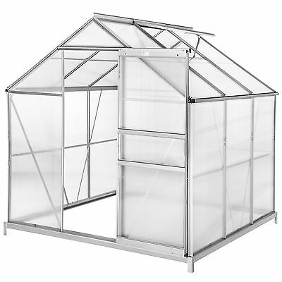 Greenhouse + foundation alu polycarbonate grow plants growhouse garden 5.85 m³
