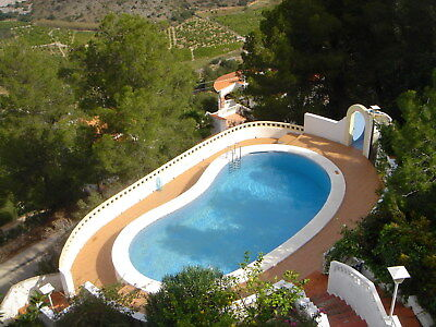 Haus mit Pool und Meerblick / Villa with sea views, 2 Apartments - Oliva Spanien