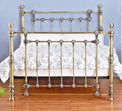 New Victoria Luxury Solid Metal Antique Brass Finish Bed Frame In 4Ft6 & 5Ft