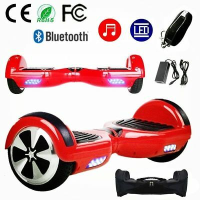 """6.5"""" Balancing Scooter Gyropode Hoverboard Self électrique Smart Bluetooth Rouge"""