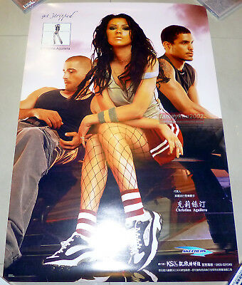 Taiwan Skechers Official Promo Poster RARE! Christina Aguilera Stripped