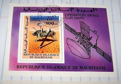 Mauritania 1977 Airmail Souvenir Sheet Stamp Viking Mars Mission Mnh Lot 3