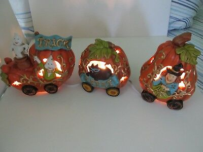 cracker barrel pumpkin train light set halloween decoration home decor ec