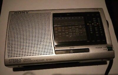 SONY ICF-SW11 Shortwave Radio FM Stereo MW LW SW  12-Band Receiver