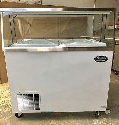 """ICE CREAM FREEZER DIPPING CABINET SHOW CASE 8 Flavor 48"""" NEW 4' Foot"""
