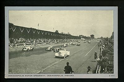 Car Auto Racing Vintage postcard Indy 500 Indianapolis, IN 1936 Silver Border