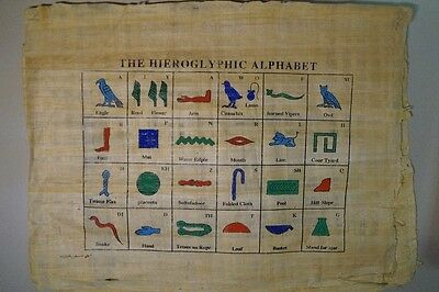 Papyrus Hyroglyphen - 44 x 34 cm -  Made in Egypt