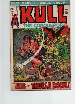 Kull The Conqueror # 3 (MARVEL 1972)THULSA DOOM-FV/VF