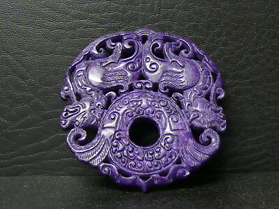 (dLB61)   Beautiful   Hand Carved  Two faces  Pendant