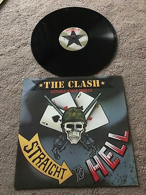 The Clash Straight to Hell Fifth Column Classic T-Shirt Olive or Black to XXL10B