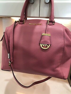 d3d5e866fa10 MICHAEL KORS RILEY Medium Backpack Mulberry Burgundy Drawstring Flap ...