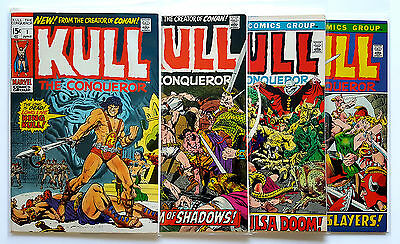Kull the Conqueror #1, #2, #3, #4 (1971 Marvel)