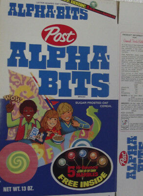1970's Post Alpha-Bits Hi-Bounce Glow In The Dark Marbles Mint File Cereal Box
