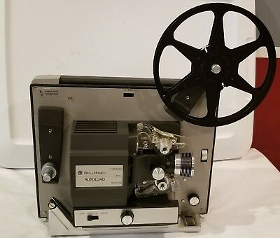 Vintage BELL & HOWELL AUTOLOAD Super 8MM Film MOVIE PROJECTOR 461B *Works*