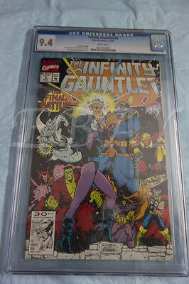Infinity Gauntlet 6 Cgc Graded 9.4 White Pages Thanos Avengers