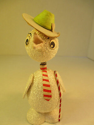 Vintage Paper Mache White Chick Western Germany