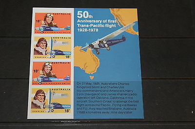 Aust 1978 Aviators First Flight Ann Minature Sheet  ,   Very Fine M/n/h