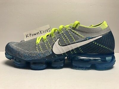 on sale f193e cceb3 Nike Air Vapormax Flyknit Sprite Grey Blue 849558 022 Men s Size 10.5  NoBoxLid