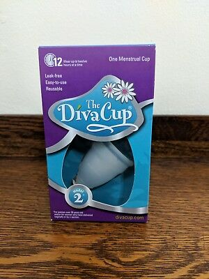 Diva Cup Model 2 Menstrual Cup New Eco Friendly Reusable Tampon Pad Feminine