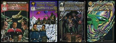 Star Trek Deep Space Nine Hearts and Minds Comic Set 1-2-3-4 Lot Malibu 1994 DS9