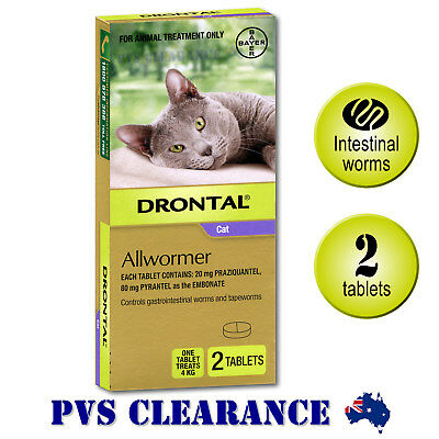Drontal Allwormer Purple for Cats Up To 4 kg -  Cat Wormer - 2-Pack Bayer Kitten