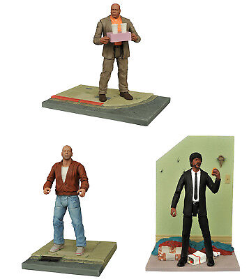 """Pulp Fiction Select 7"""" Action Figures, Set of 3: Butch, Jules, Marsellus"""