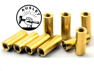 Cylindrical Brass Connecting Pipe Rivets - 10 Pieces