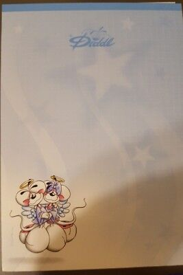 NEW Diddl Diddlina Mouse Stationary Notepads x2 From Germany