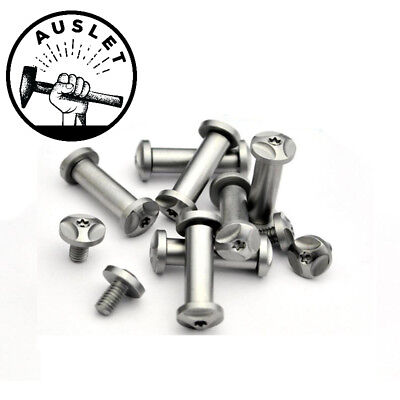 Straight Pocket Knife Screw Rivets - 2 Pieces