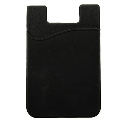 Silicone Wallet Credit Card Cash Stick Adhesive Holder Case For iPhone Cell Z1W9