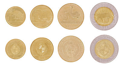 Uruguay 1-10 Pesos 4 Pieces - PCS Coin Set, 2011-14, KM # 134-137, Mint, Animals