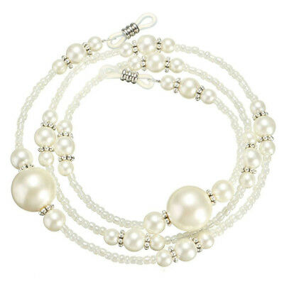 1X Pearl Beaded Eyeglass Holder Necklace Sunglass Eye Sun Glasses Chain Lanyard