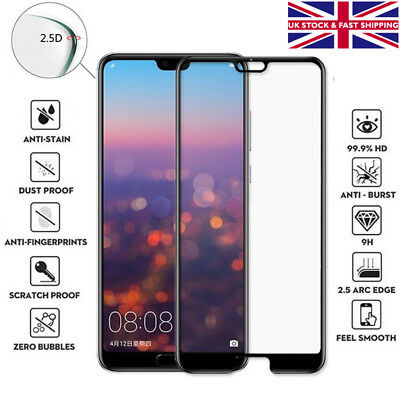 Huawei P20 Lite Pro Genuine Full Tempered Glass 9H Hard Screen Protector Cover