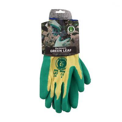 Green & Gold Gloves Medium Thick Textured Latex Palm Soft Flexible High Grip