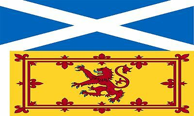 Twin Pack St Andrews Cross Saltire Scotland Flag + Rampant Lion Flags 5x3ft